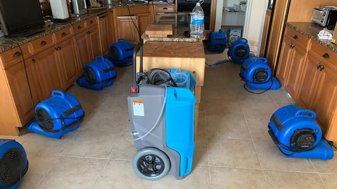 Drying Kitchen Water Damage Cape Coral FL